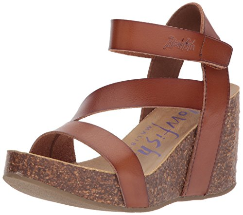 Blowfish Women's Hapuku Wedge Sandal, Scotch Dyecut, 7 Medium US by Blowfish