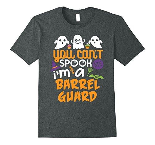 Man Costume Barrel (Mens Barrel Guard Halloween Costume Party Can't Spook Me T-Shirt Large Dark)