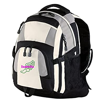 Personalized Track & Field Urban Backpack (Grey/Black/Stone) well-wreapped