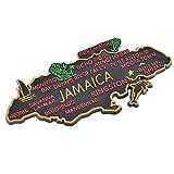 lychee Jamaica's Map Tourist Travel Fridge Accessories Stickter Fashion New Unisex Gifts