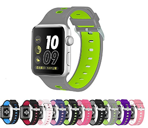 Pantheon Compatible Apple Watch Band 44mm 42mm Series 4 3 2 1 Silicone Sport Band Waterproof Compatible iWatch Bands for Men and Women