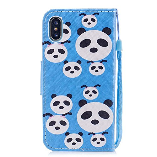 with Case Smartphone PU Closure Stand Leather Color Katech Card Cover Free Wallet Feature 8 and Case inches Flip iPhone x Stand 5 Protective Magnetic 10 colorful X pattern 5 Painting iPhone 1 Slot R Is Cover of Stand Luxury Tn8zWRT67