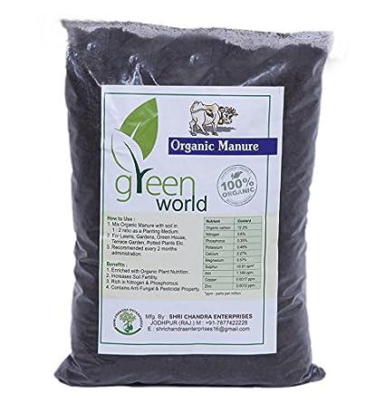 Green World Organic Manure 10 Kgs (100% Organic and Natural