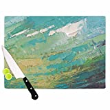 KESS InHouse Carol Schiff ''Sea Dance'' Teal Green Painting Cutting Board, 11.5'' x 8.25'', Multicolor