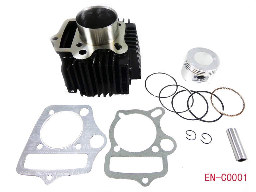 52.4mm Engine Cylinder Body w//Head Gasket and Piston Set for 90cc 110cc 125cc ATV Quad Go Kart Dirt Bike
