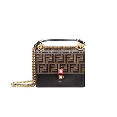 a953051cbd49 ZM-FENDI KAN I SMALL Black leather mini-bag  Amazon.co.uk  Shoes   Bags