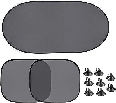 Parasole per Auto - nero Visiera Parasole Universale set di 2