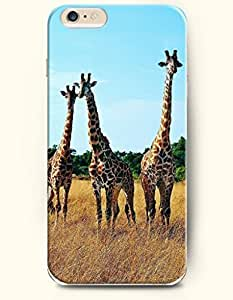iPhone 6 Plus Case 5.5 Inches Three Giraffes with Different Height - Hard Back Plastic Case OOFIT Authentic