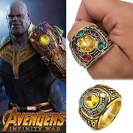 WANGLAI B/ösewicht Power Ring Infinity War Stones Panzerhandschuh Ring Thanos Infinite Power Soul Stein Magnet Armb/änder Infinity War Schl/üsselanh/änger Ringe