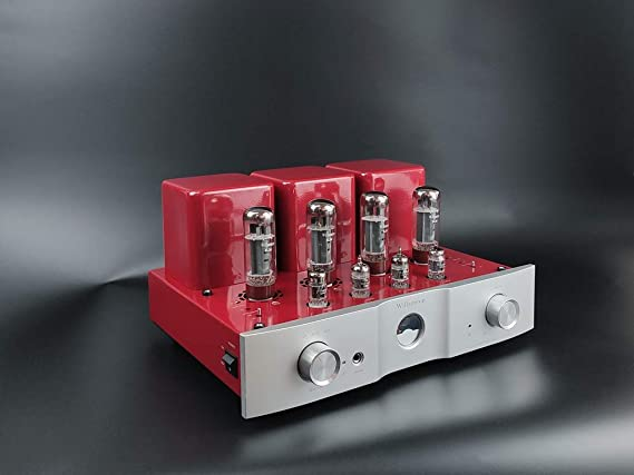Willsenton R-35I EL34 x4 Tube Amplifier Headphone Amp with Bluetooth Basic Meter (Red with Bluetooth)