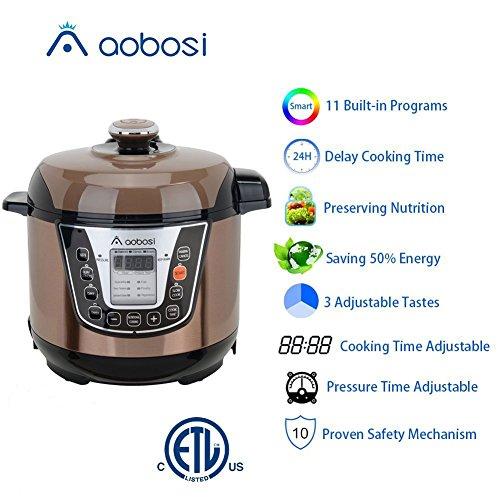 aaobosi aobosi electric pressure cooker 3qt 800w mini size perfect for small family digital 16. Black Bedroom Furniture Sets. Home Design Ideas