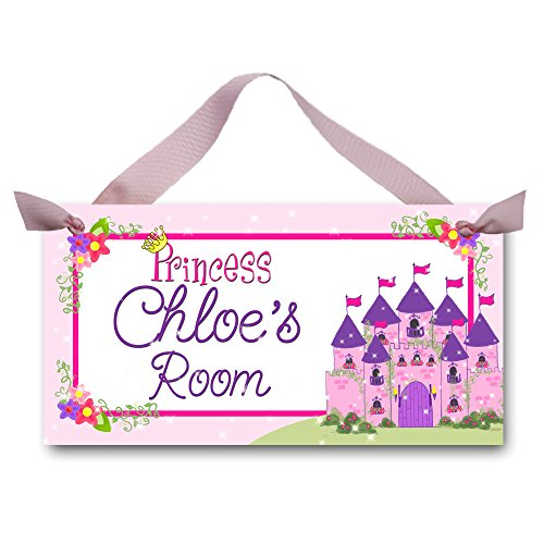 Toad and Lily Born to be a Princess Girls Bedroom Baby Nursery Bedroom DOOR SIGN Wall Art Decor DS0024 - Princess Plaque Personalized