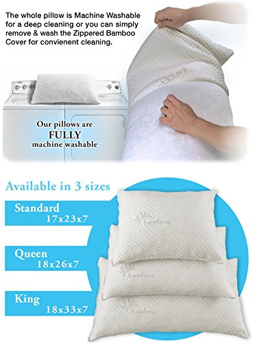 Hypoallergenic pillow adjustable thickness bamboo for Sweethome best pillow