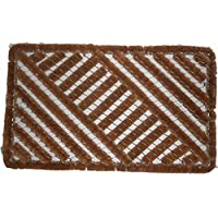 Happy House Door Mats, 29.5 L x 17.7 W x 1.3 H (45cm,W x 75cm, L x Thickness 3.3cm) Thickness Coir fiber construction on a steel frame for heavy-duty use, Weight is 4.5 Lbs.