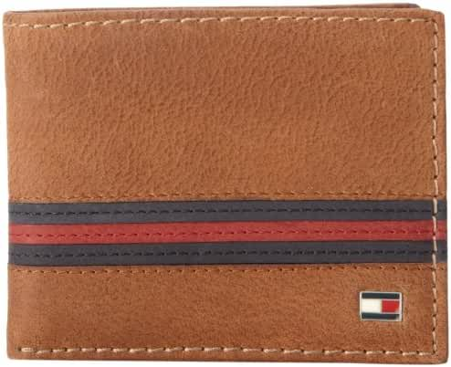 Tommy Hilfiger Men's Yale Passcase Billfold Wallet with Removable Card Holder