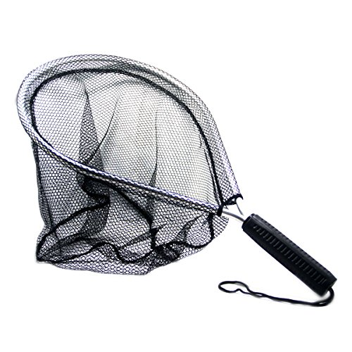 SAMS FISHING Fly Fishing Aluminium Landing Nets Fish Saver Nylon Knotless Mesh Aluminum Frame for Landing Kayak