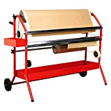 TCP Global Mobile 36'' Multi-Roll Masking Paper Machine with Storage Trays – Auto Body Paint & Repair Shop, Car Painting Prep