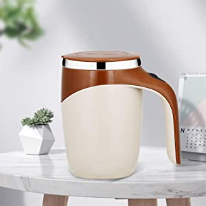 SunFay Coffee Stainless Steel Automatic Blender, Office Smart Hot Drink Blender, Dedicated to Hot Cocoa, Chocolate, Mocha, Matcha, Milo, Latte, Tea (Coffee)