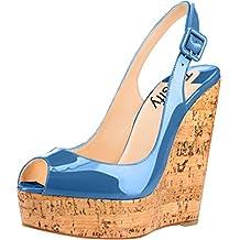 Trusify Womens 12cm Synthetic US Plus Size 4-15 Truabandon 12CM high-heel Sandals