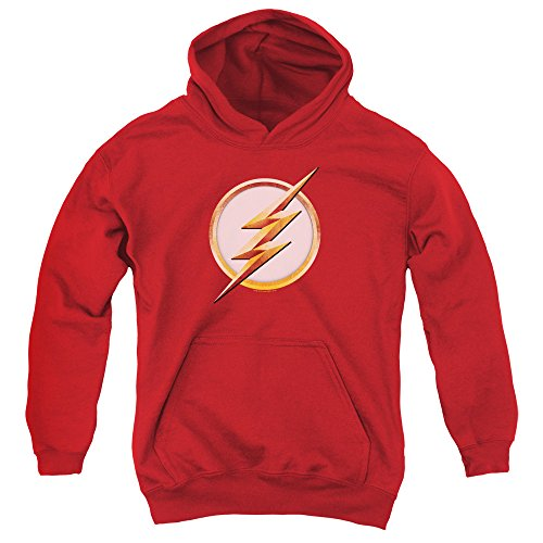 Flash Season 4 Logo Unisex Youth Pull-Over Hoodie for Boys and Girls Red (Flash Shirts For Girls)