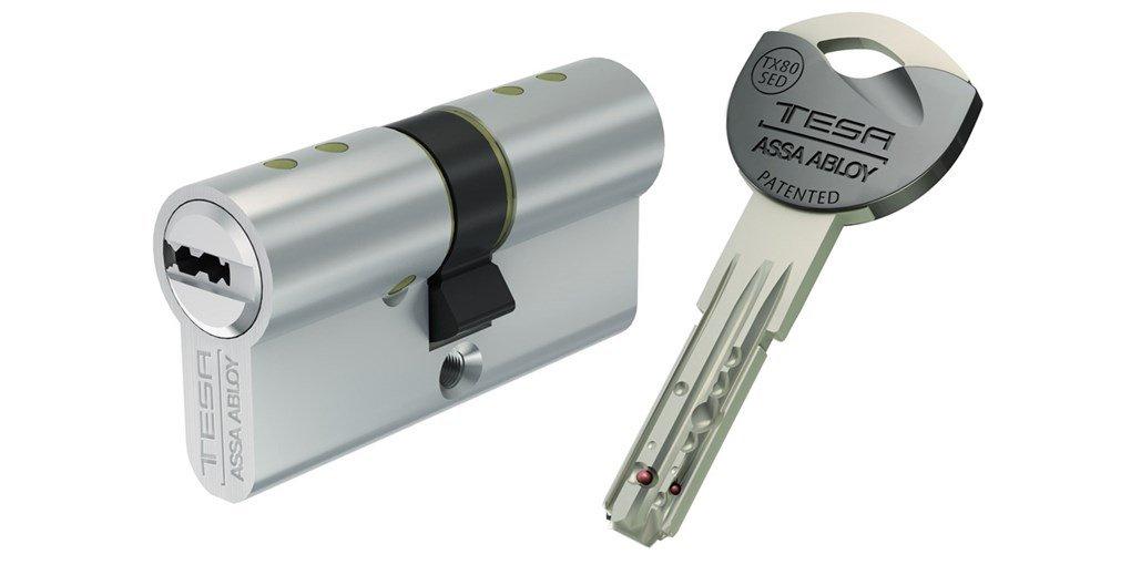 Tesa Assa Abloy, TX853050N, Cilindro de Alta Seguridad TX80 de Leva Larga, Niquelado, 30x50mm: Amazon.es: Bricolaje y herramientas
