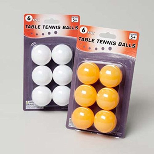 Table Tennis Balls 5pkホワイト垂直ハマグリパックGovのロゴ、ケースパック48 B00CXK7DMI