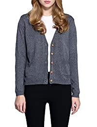 Urban CoCo Women's Button Down Pocket Cardigan Sweater