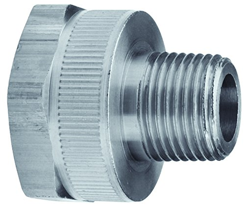 Dixon RMA976 Female 3/4'' GHT Non-Swivel Adapter x 3/4'' Male NPTF, 0.75'' ID, 303 Stainless Steel