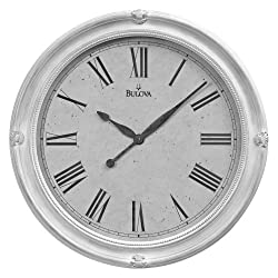 Bulova Hazelton Large Deco Wall Clock - C4109