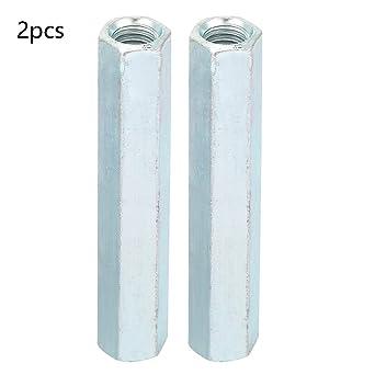 M20 60 Tuerca hexagonal larga Tuerca de acoplamiento de varilla larga Tornillos roscados Tuerca de uni/ón de tapa de conexi/ón de acero al carbono galvanizado 1pcs