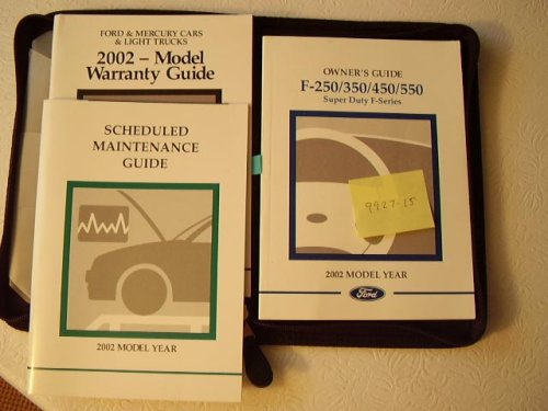 2002 Ford F250, F350, F450, F550 Superduty incl. 4x4 Owners Manual