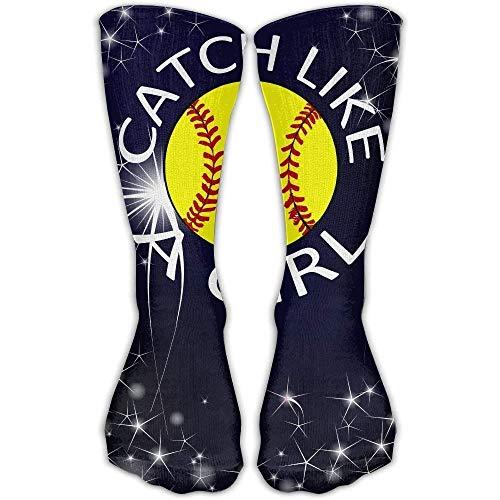 Softball Catcher Unisex Tube Socks Crew Over The