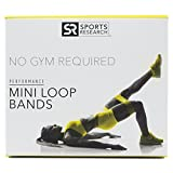 Loop Bands (Set of 4) with 4 levels of resistance - Includes Carrying bag and Sweet Sweat Gel Sample | Strength Performance Stretch Bands Great for Legs, Arms and Physical Therapy Workouts