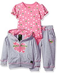 Baby Girls' Jacket Bodysuit and Pant Set