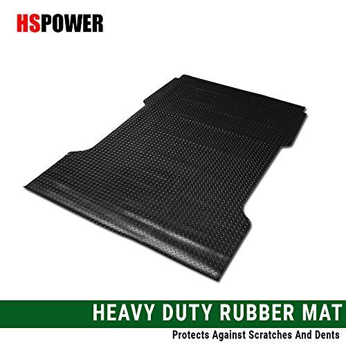 HS Power Black Finished Rubber Diamond Floor Mat Carpet for 1997-2003 Ford F150 / F250 Flareside 6.5 Ft Short Truck Bed