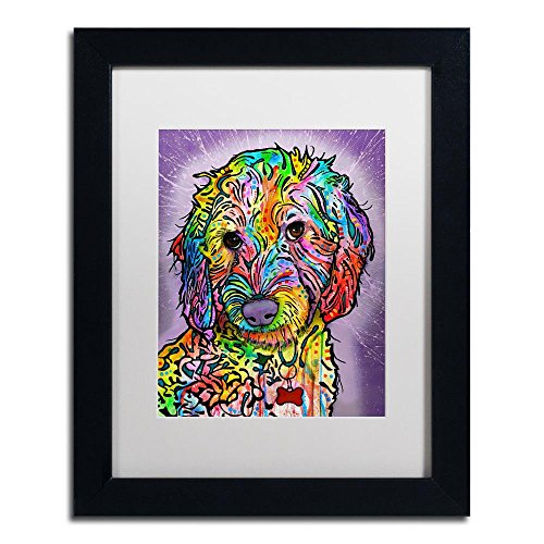 Sweet Poodle by Dean Russo, White Matte, Black Frame 11x14-Inch