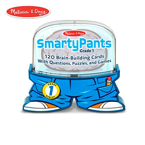 (Melissa & Doug Smarty Pants 1st Grade Card Set - 120 Educational, Brain-Building Questions, Puzzles, and Games )