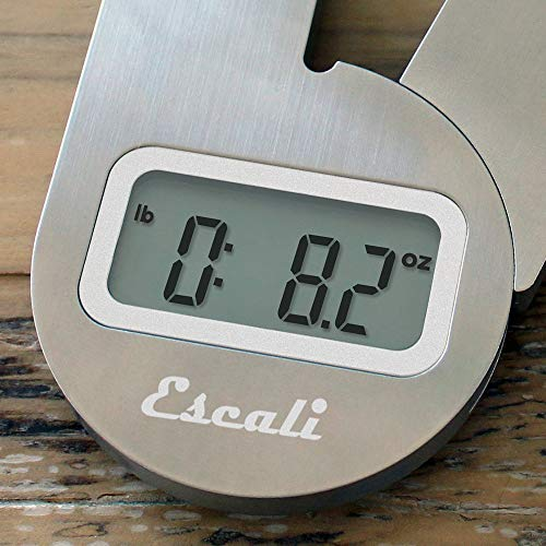 Escali F115 Compact Kitchen Scale, 11 lb/5 kg, Stainless Steel