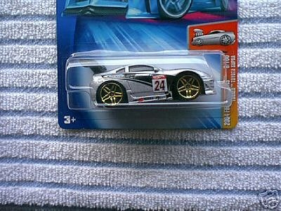 Hot Wheels 2004 First Editions Silver & Black Tooned Toyota Supra 1:64 Scale Collectible Die Cast Car Model #008 (Fast And Furious Orange Supra For Sale)