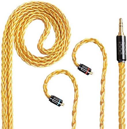 [해외]MMCX リケ?ブル 이어폰 케이블 교체 마이크 없이 8 조개 짠 3.5 mm 3 극 균형 대 Woodhifi CJTM3 / MMCX Recable Earphone Cable Replacement Without Microphone 8 Crotch Knitting 3.5mm 3-Pole Balance Support Woodhifi CJTM3