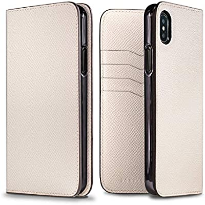 BONAVENTURA Noblessa Diary - Funda para Smartphone, Compatible con Apple iPhone XS MAX, Apple iPhone 10s MAX, Apple iPhone X MAX (Fabricado en Piel.), Color Blanco: Amazon.es: Electrónica