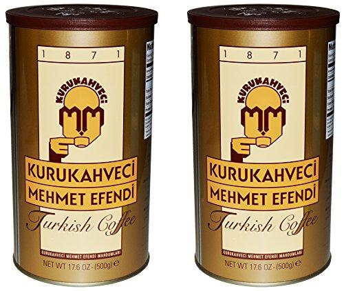 Kurukahveci Mehmet Efendi Turkish Coffee 17.6 Ounce Can (Break down of 2)