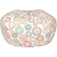 Gold Medal Bean Bags Cotton Bean Bag with Starburst Pinwheel - Beige, Small/Toddler