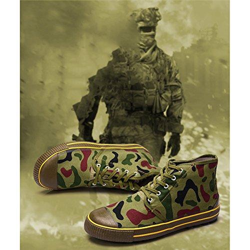 Sneakers Da Lavoro Stivali Antiscivolo Combattimento 4 Scarpe Army top High Trekking Camouflage Unisex Trainer Durable Casual All'aperto Traspirante qBv77wSP