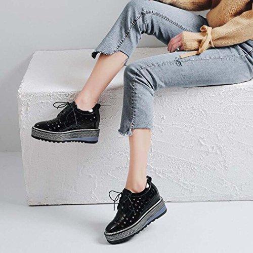 Pequeños Mujer Blancos Zapatos Plataforma Casuales De PlwOikXZTu