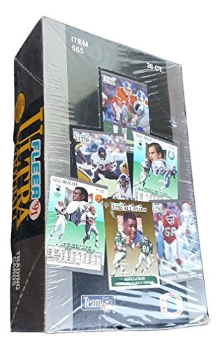 1991 Fleer Ultra Football Cards Box of 36 Packs Factory Sealed.