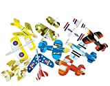 Neliblu Airplane Gliders For Kids By Bulk Pack Of 72 Individually Wrapped Flying Plane Toys – Lightweight Foam Air Planes W Various Designs; Fun Toys for Kids, Great Birthday Party Favor