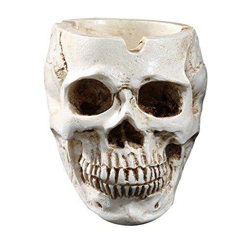 Taiguang Spooky Skull Resin Cigarette Ashtray Home Desk Halloween Decorations Gift ()