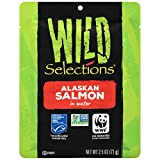 Wild Selections Alaskan Salmon Pouch, 2.5 Ounce (Pack of 12) For Sale