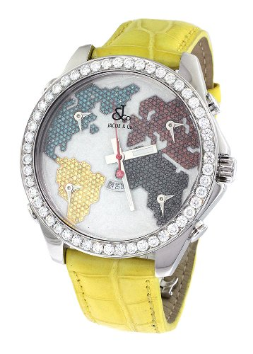 jacob-co-yellow-band-five-time-zone-world-map-575ct-diamond-watch-jc-47sgr